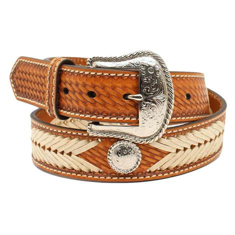 Nocona Natural Braided Concho Men's Belt
