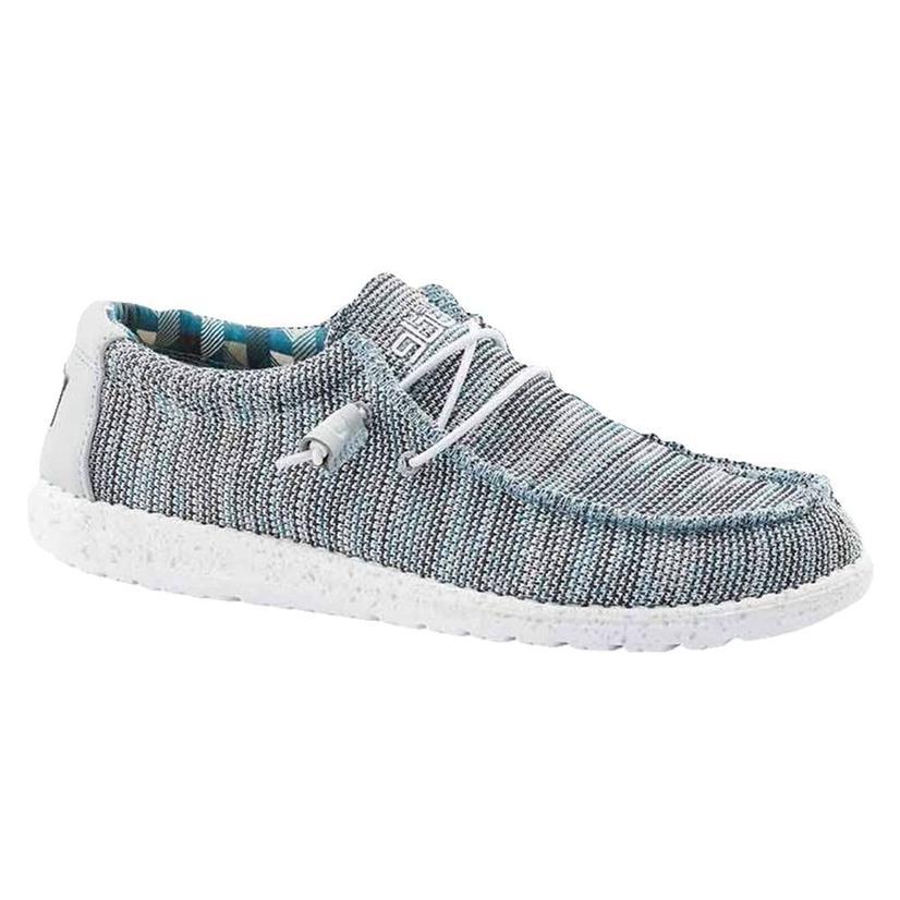 Hey Dude Wally Sox Ice Grey Men's Shoes