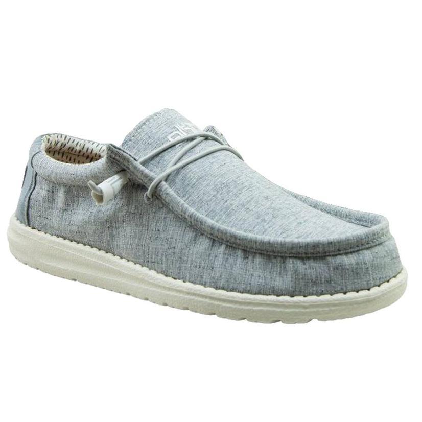 Hey Dude Wally Chambray Blue Men's Shoes