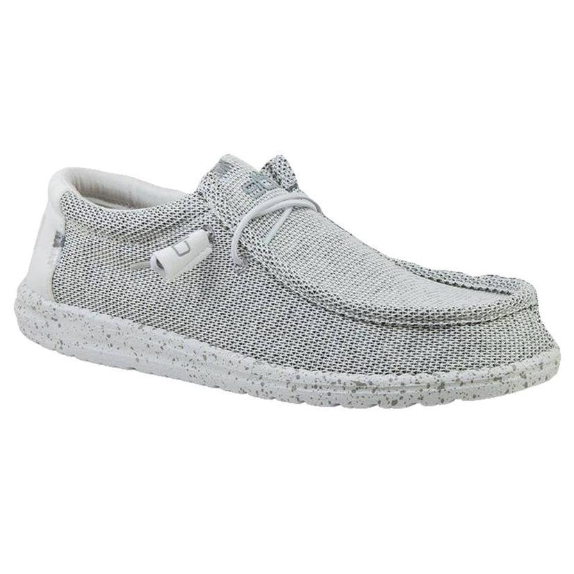 Hey Dude Wally Sox Stone White Men's Shoes