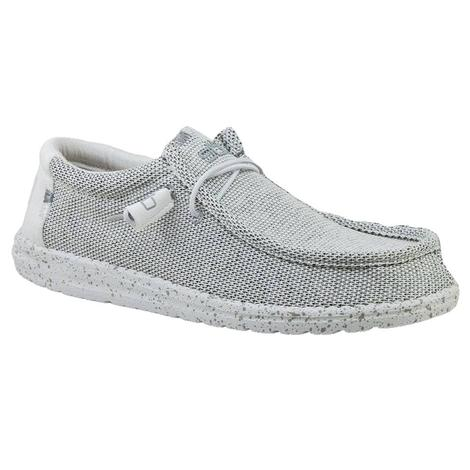 Hey Dude Wally Sox Stone White Men's Shoes
