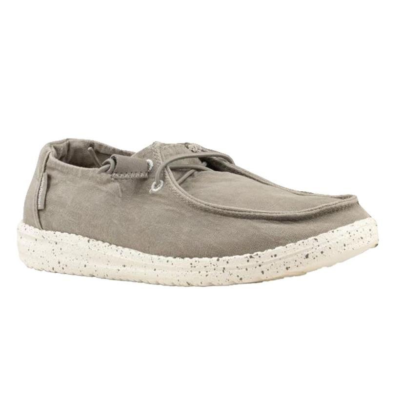 Hey Dude Wendy Grey Lace Up Shoes