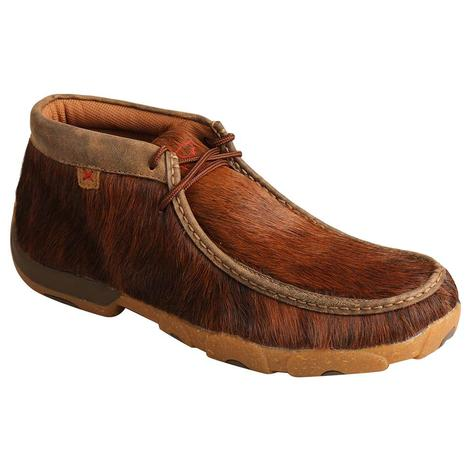 Twisted X Chukka Driving Moc Brindle Men's Shoes