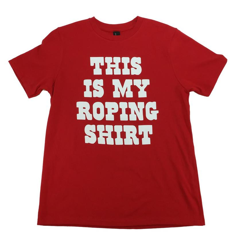 Let's Rope This Is My Roping Shirt Kid's Red Tee