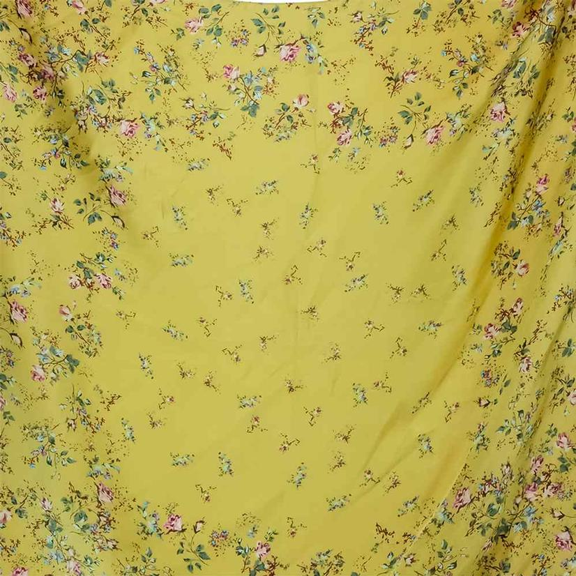 Wild Rags Yellow Floral 27x27
