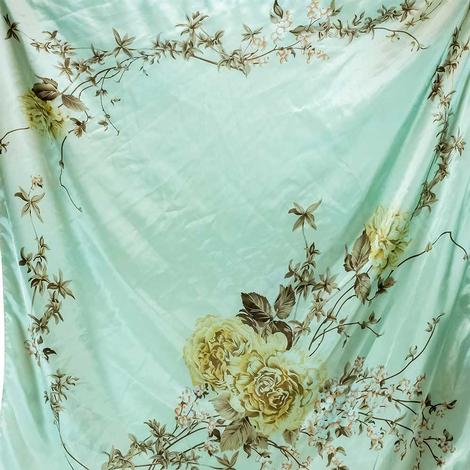 Wild Rags Mint Floral 35x35