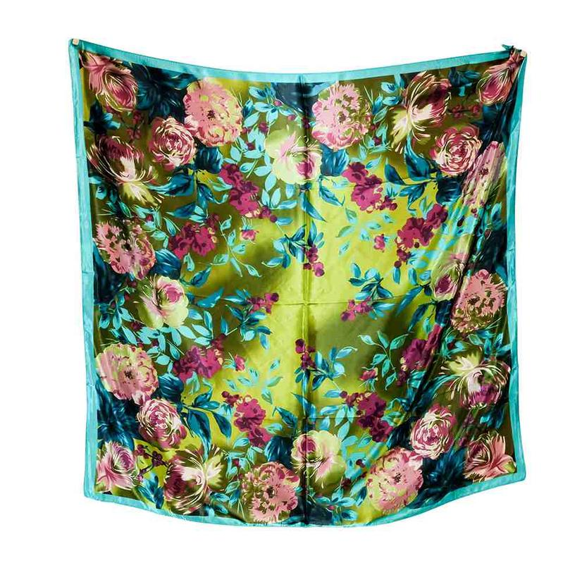 Wild Rags Green Floral 35x35