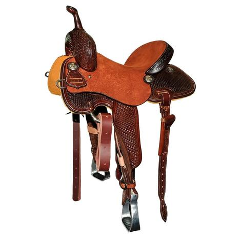 STT Chocolate and Chestnut Barrel Saddle with Windmill Tool