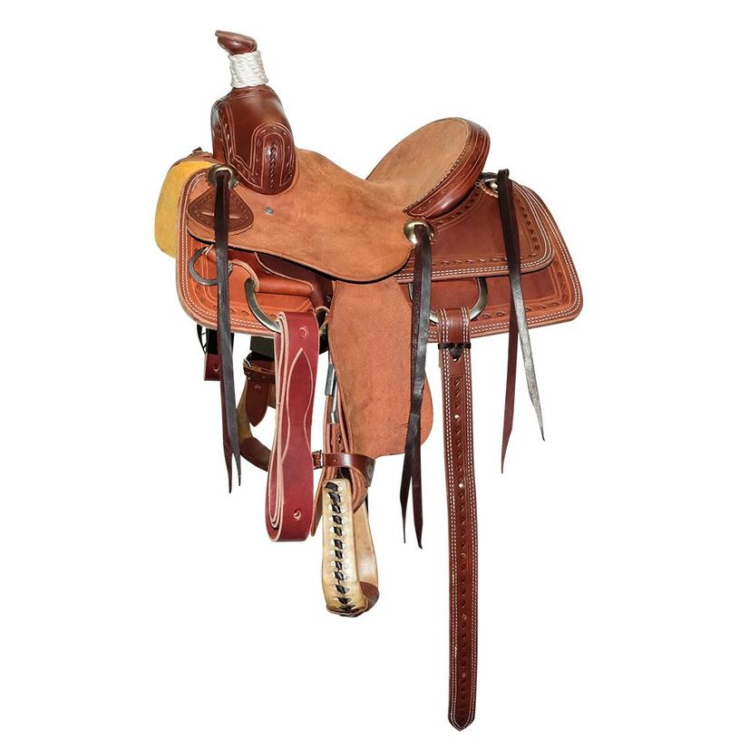 Stt Association Kid Saddle Half Slickout Half Roughout Oiled With Cheyene Roll