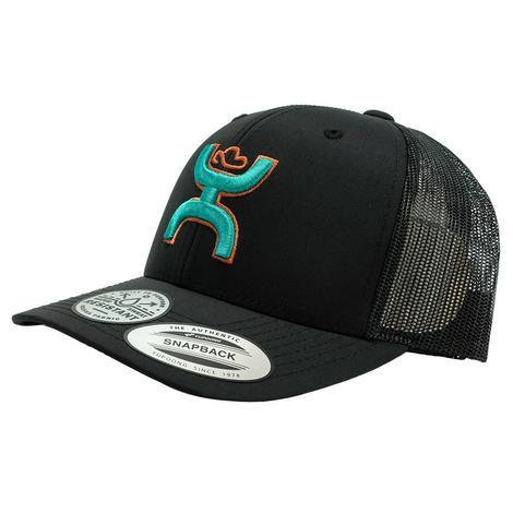 Hooey Black Teal Sterling Snapback Cap