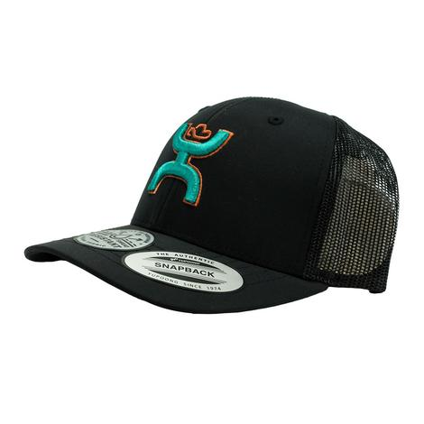 Hooey Black Teal Sterling 6 Panel Snapback Youth Cap