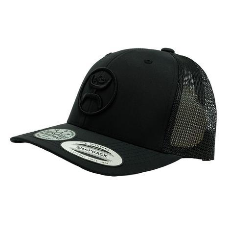 Hooey O Classic Black 6 Panel Snapback Cap