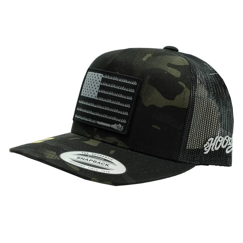 Hooey Liberty Roper 5 Panel Black Camo Cap