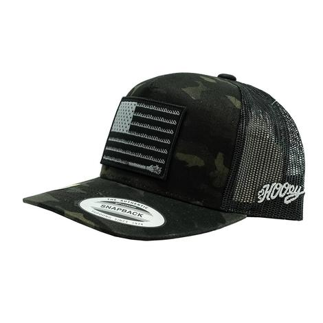 Hooey Black Camo Liberty 5 Panel Snapback Youth Cap