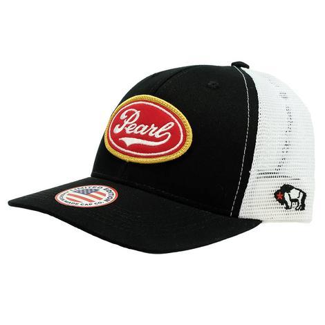 Hooey Pearl 6 Panel Black White Snapback Cap