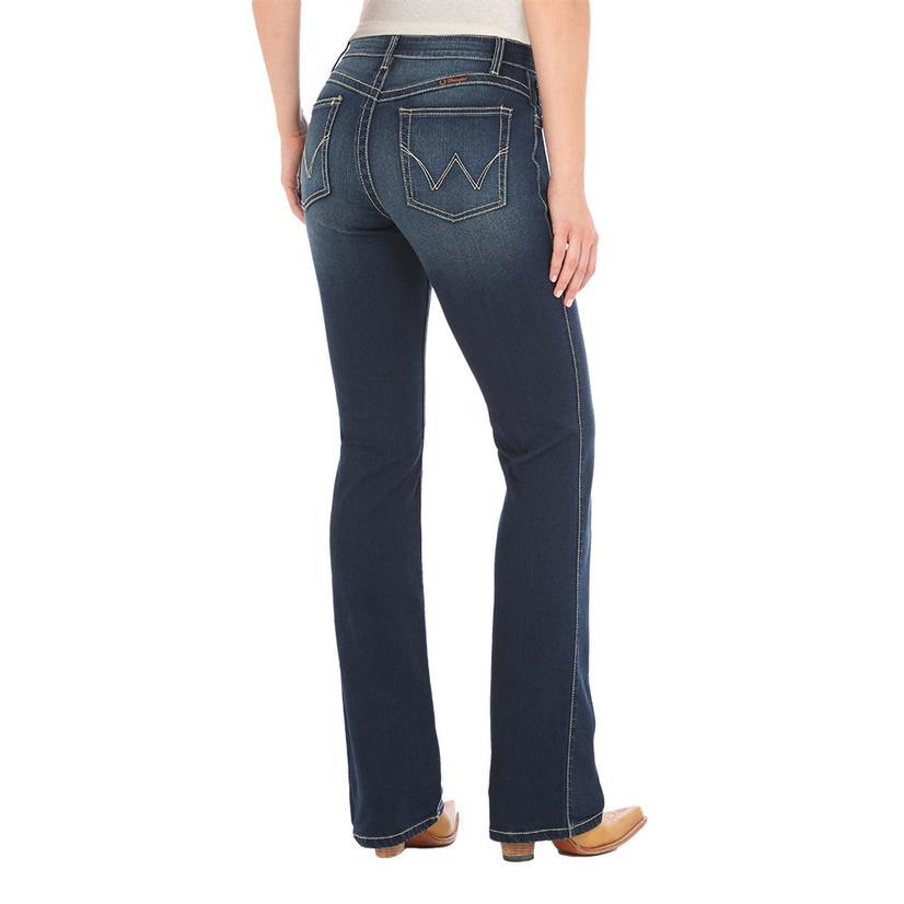 Wrangler Plus Q- Baby Mid Rise Bootcut Women's Denim Jeans