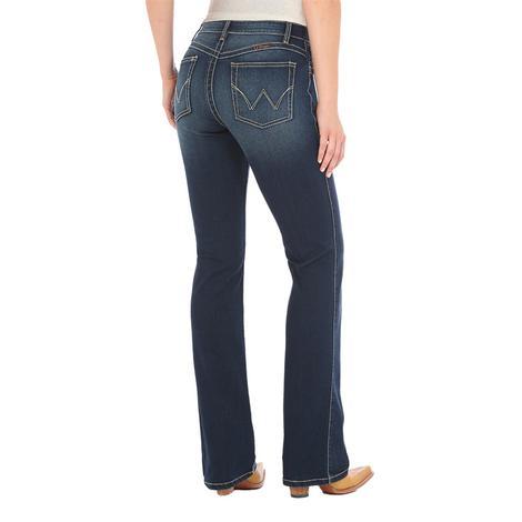 Wrangler Plus Q-Baby Mid Rise Bootcut Women's Denim Jeans