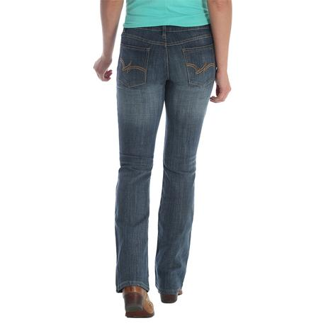 Wrangler Plus Mid Rise Bootcut Brown Stitch Women's Denim Jeans