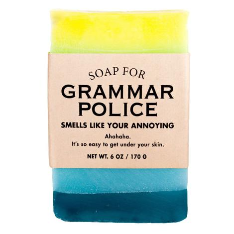 Whiskey River Soap Company - Grammar Police Soap 6oz