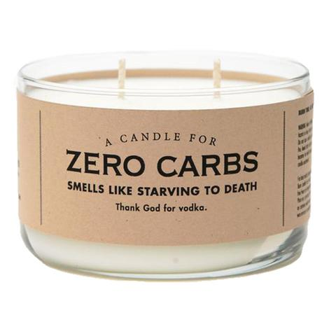 Whiskey River Soap Company - Zero Carbs Candle 10oz