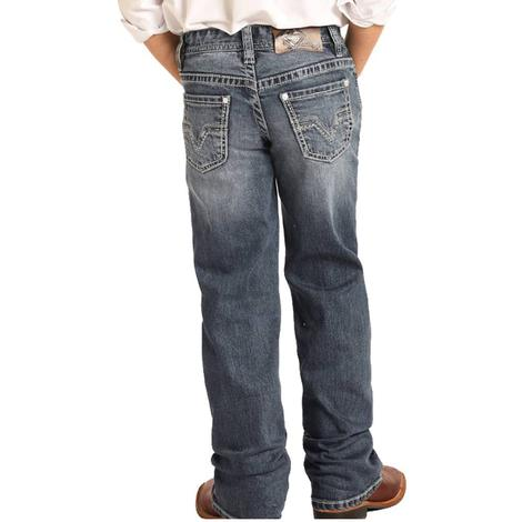 Rock and Roll Cowboy Medium Vintage Bootcut Boy's Jeans