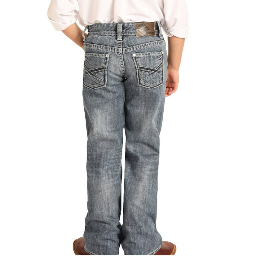 Rock And Roll Cowboy Light Wash Bootcut Boy's Jeans