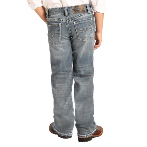 Rock and Roll Cowboy Slim Fit Straight Leg Boy's Jeans