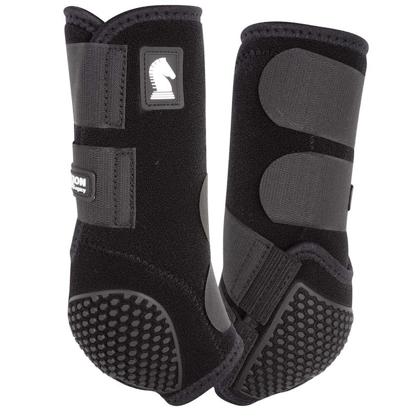 Classic Equine Flexion By Legacy Sport Boots Front BLK