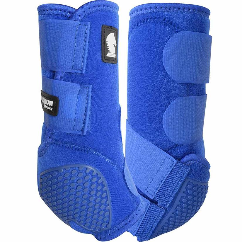 Classic Equine Flexion By Legacy Sport Boots Front BLUE