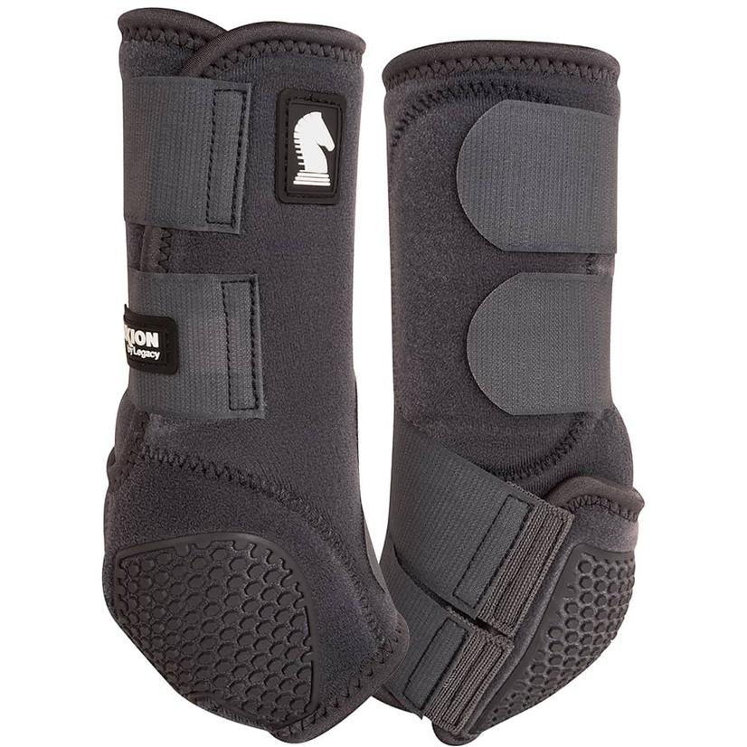 Classic Equine Flexion By Legacy Sport Boots Front CHARCOAL
