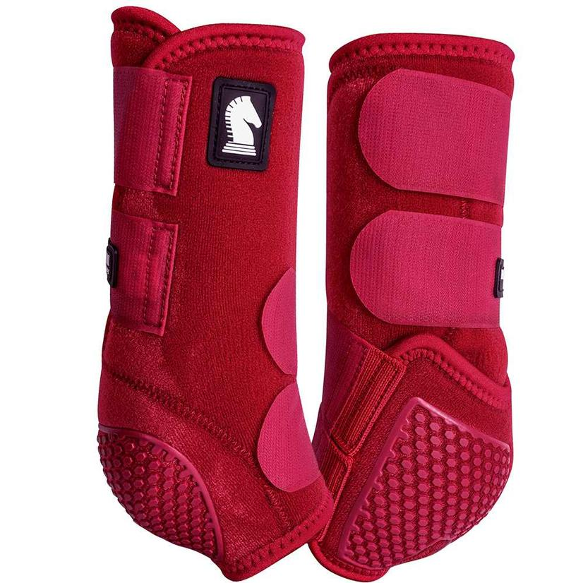 Classic Equine Flexion By Legacy Sport Boots Front CRIMSON