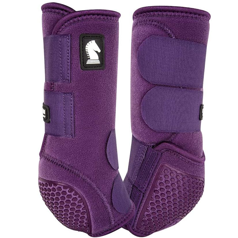 Classic Equine Flexion By Legacy Sport Boots Front EGGPLANT