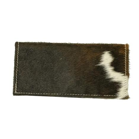 American Darling Bags Brown and White Hide Wallet