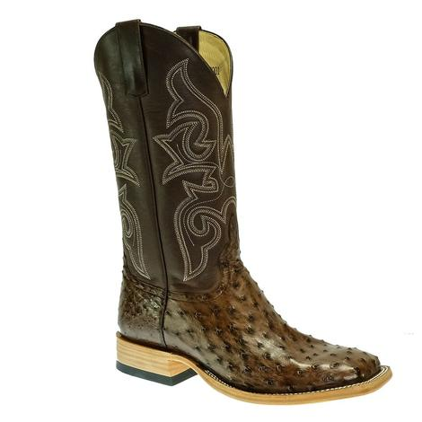 Horsepower Kango Tobacco Full Quill Ostrich Brown Antique Men's Boots