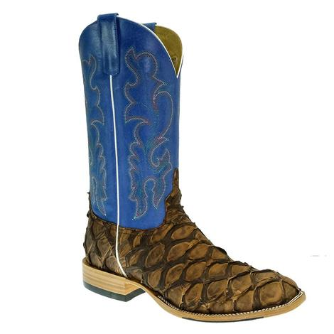 Horsepower Chocolate Aripima Bass Royal Blue Duroc Men's Boots