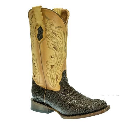 Ferrini Stampede Nicotine Crocodile Women's Boots