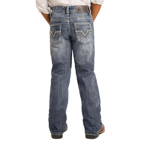 Rock and Roll Cowboy Medium Vintage Boot Cut Boy's Jeans