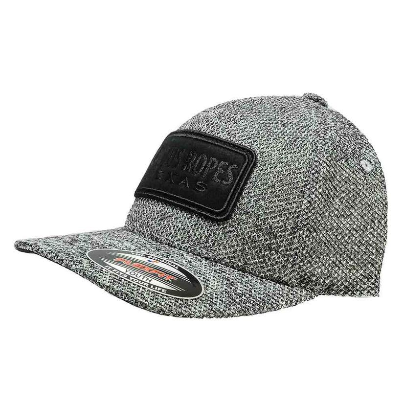 Hooey Cactus Ropes Grey 5 Panel Black Patch Flexfit Youth Cap