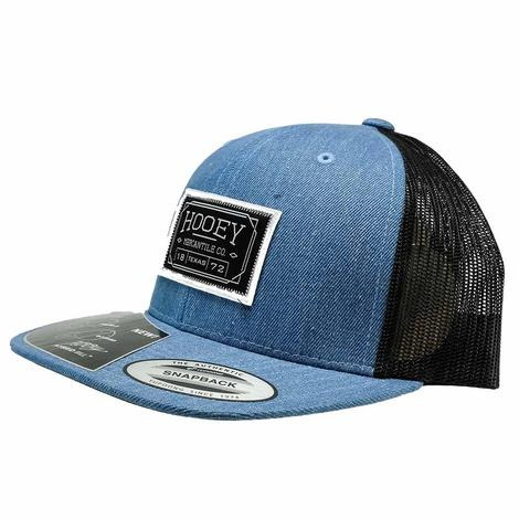 Hooey Blue with Black White Patch Meshback Cap