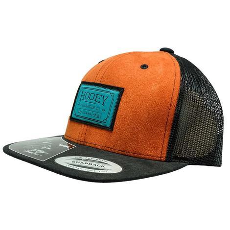 Hooey Black Orange Teal Patch Meshback Cap