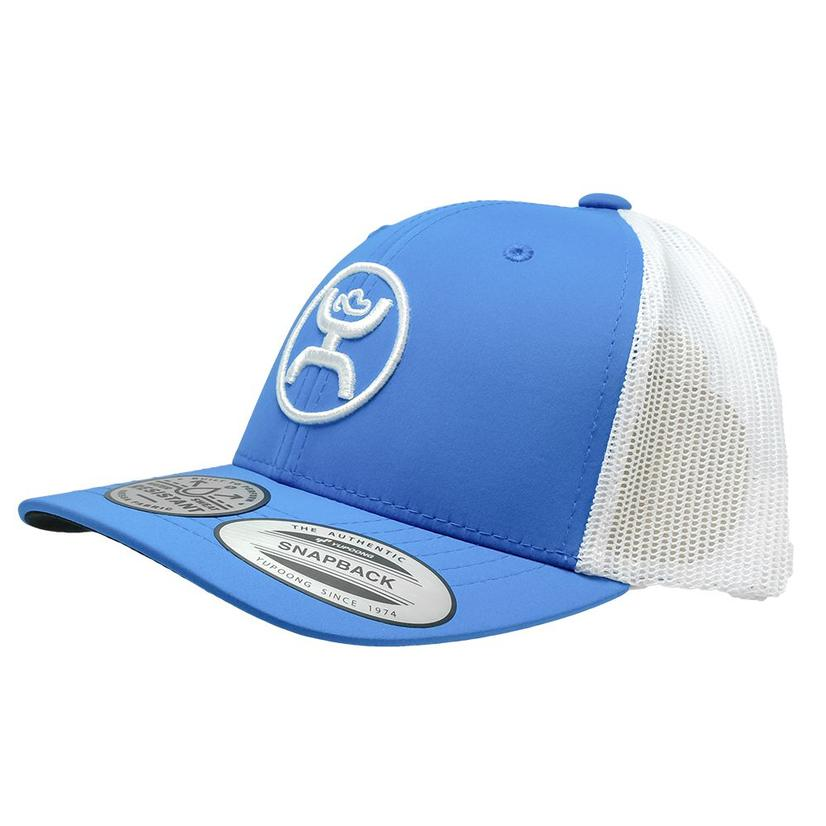 Hooey Classic 6 Panel Blue White Meshback Youth Cap