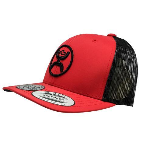 Hooey Red Black Meshback Cap