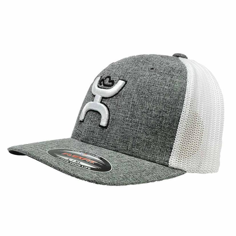Hooey Grey White Meshback Cap