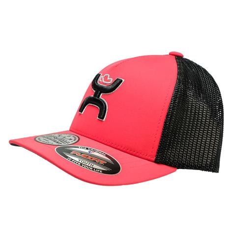 Hooey Red Black Coach 5 Panel Meshback Youth Cap