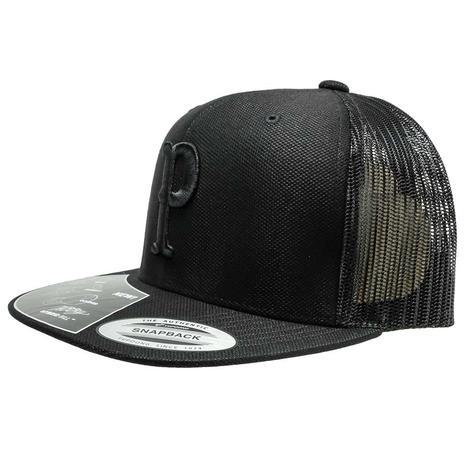 Hooey Black Punchy 6 Panel Snapback Cap