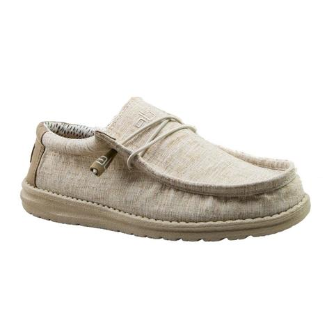 Hey Dude Wally Chambray Nut Men's Shoes