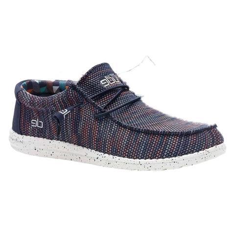 Hey Dude Wallysox Blue Orange Men's Shoes