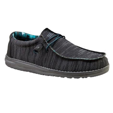 Hey Dude Wallysox Charcoal Men's Shoes