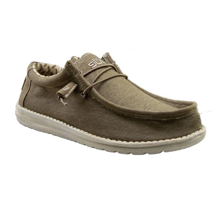 Hey Dude Wally Stretch Tobacco Men's Shoes