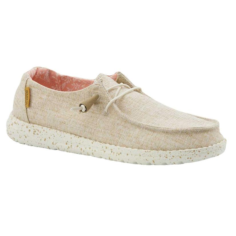 Hey Dude Wendy Chambray White Nut Women's Shoes